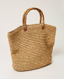 Weaved raffia shopper Straw Woman 211TD8240-05