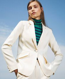 Blazer with pockets Creamy White Woman 202MP2293-05