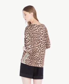 Pullover mit Animalier-Print Leopardenprint Frau PS83LE-03