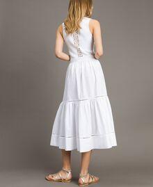 Jupe mi-longue en popeline Blanc Femme 191TT224B-03