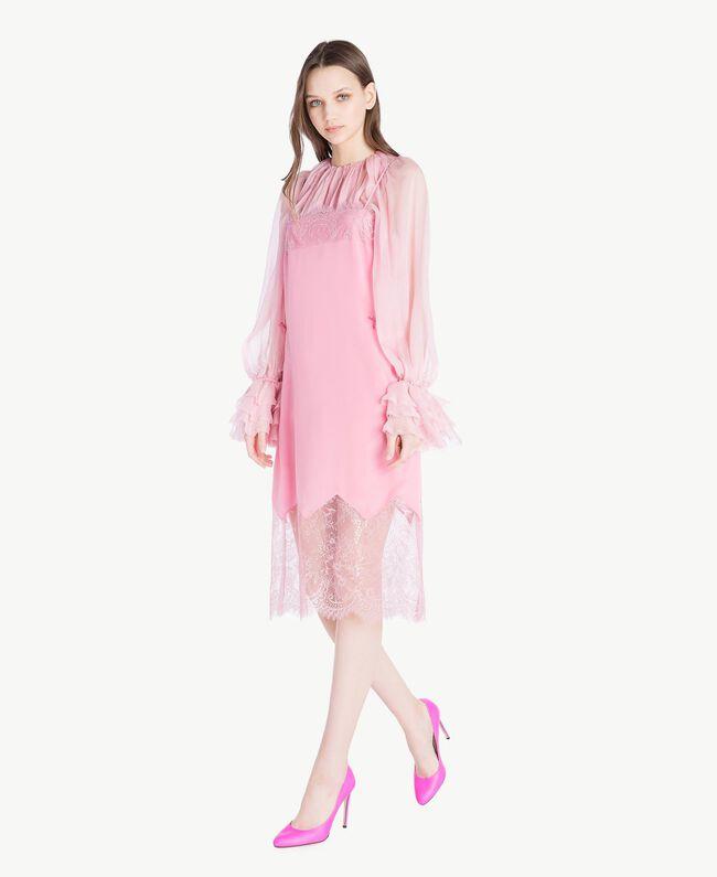 TWINSET Leather court shoe Hydrangea Pink Woman CS8PD1-05