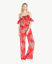 Printed top Red Flower Bouquet Print Woman YS82PK-05