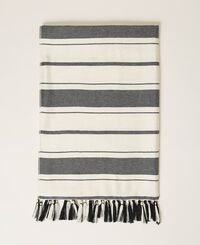 Jacquard striped scarf