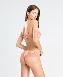 Soutien-gorge push-up en dentelle bicolore Bicolore Orange Citrouille / Rose Femme LA8C44-03