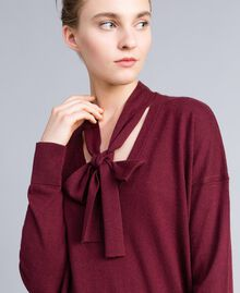 Kleid aus Seide und Kaschmir Bordeaux Frau PA83GE-04
