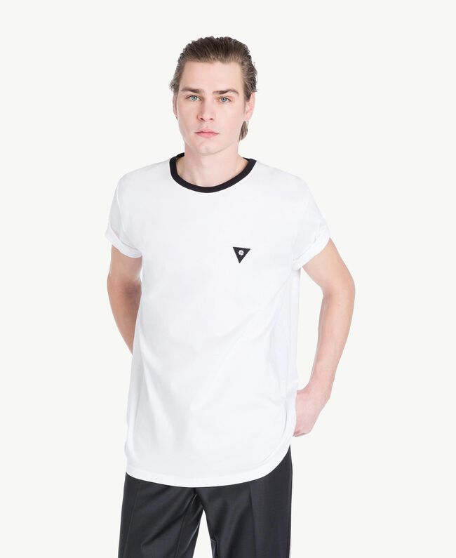 T-Shirt aus Jersey Mattweiß Mann US8227-01