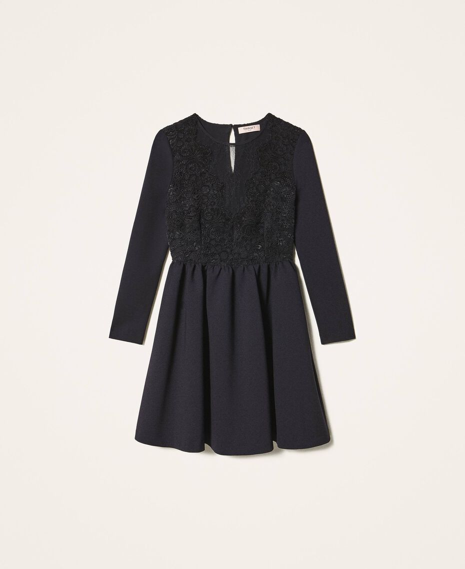 Dress with lace Black Woman 202TT2285-0S