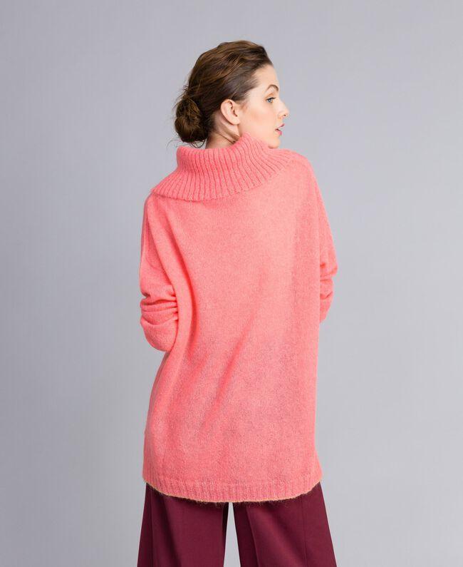 Pull en mohair avec top en dentelle Rose Royal Pink Femme PA836F-04