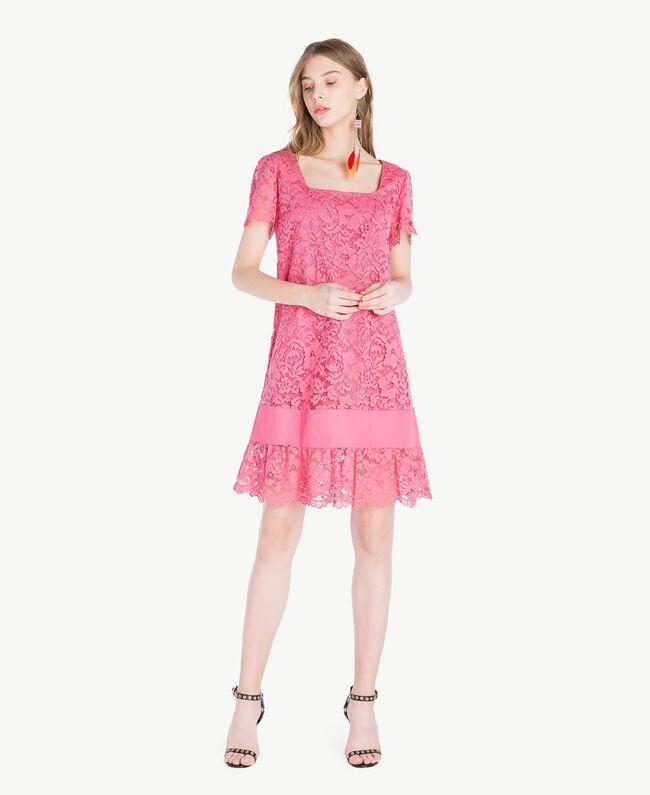 Kleid mit Spitze Provocateur Pink Frau TS828P-01