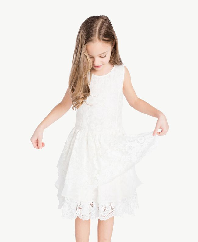 Robe soie Chantilly Enfant GS8LD1-05