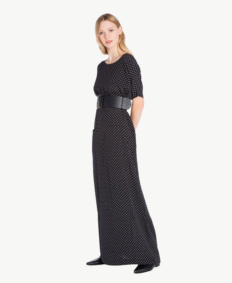 Robe pois Imprimé Pois Noir / Ivoire Femme PS8283-02