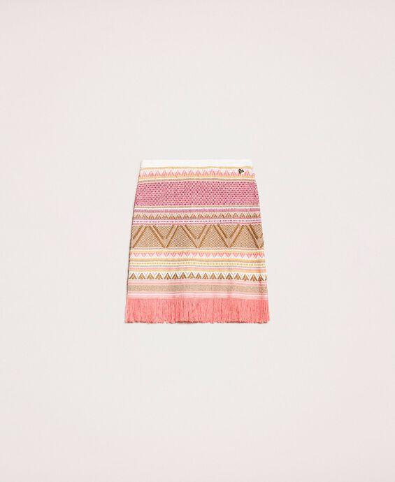 Short skirt with fringes