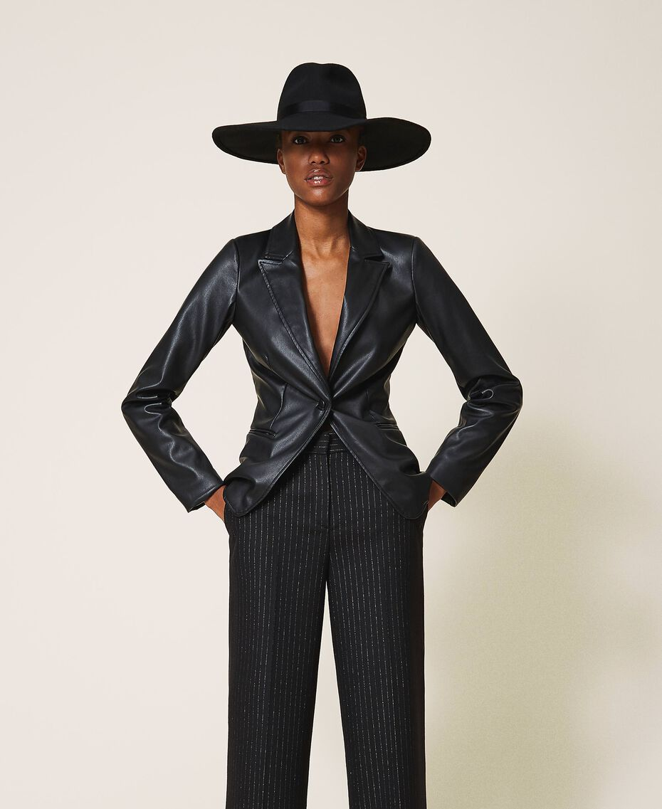 Широкополая шляпа с лентой Черный женщина 202TA4453-0S
