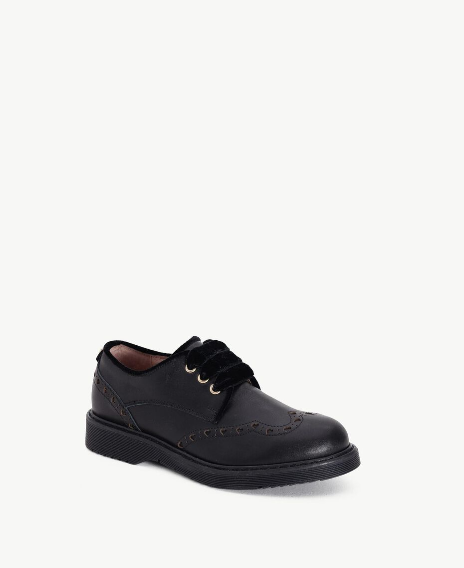Nappa leather lace-up shoes Black HA78AS-02