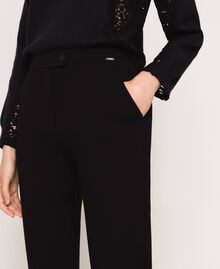 Cigarette trousers with pockets Black Woman 201ST2055-04