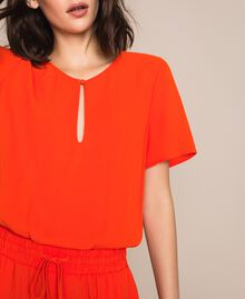"Georgette jumpsuit ""Ace"" Orange Woman 201LL2NBB-04"