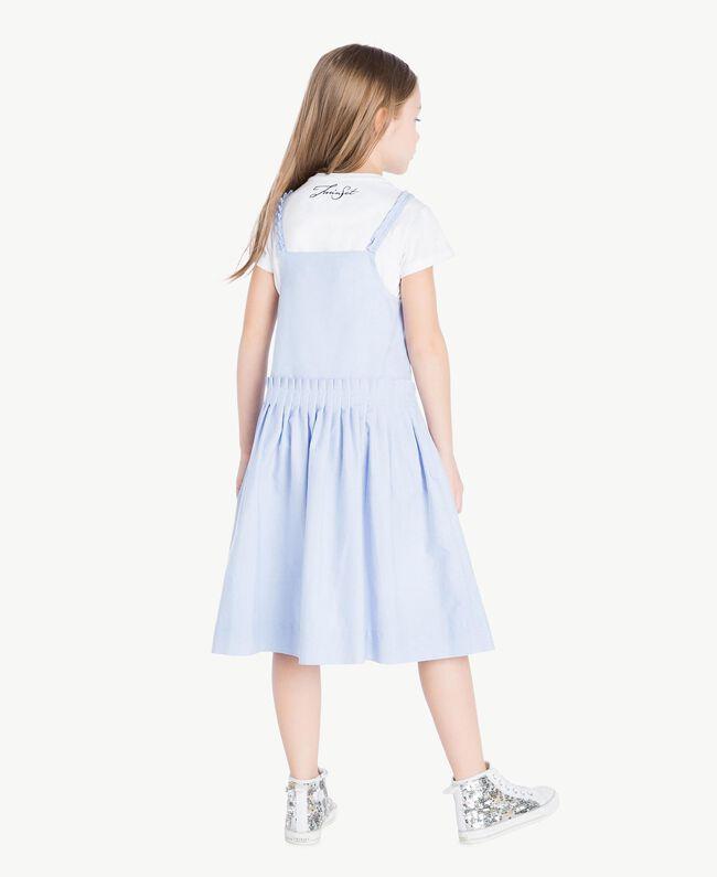 Ruched dress Infinite Light Blue Jacquard Child GS82QC-04