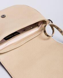 Faux leather animal print shoulder bag Turtledove Woman VA8PAG-04