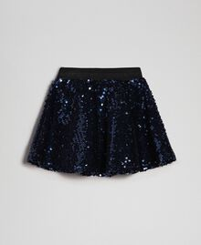 Gonna in velluto con paillettes Blue Night Bambina 192GB2091-0S