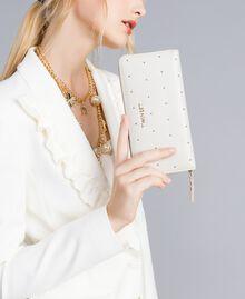 Geldbörse aus Leder mit Nieten Weiß Schnee Frau AA8PA7-0S