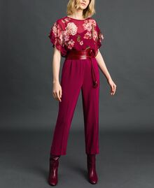 Georgette trousers Beet Red Woman 192TP2387-01