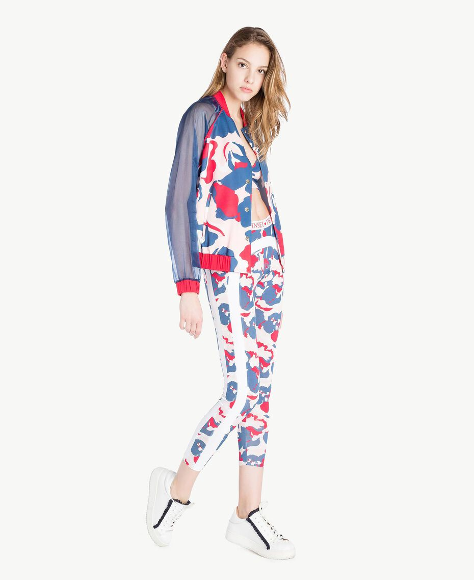 "Printed bomber ""Camouflower"" Print Woman LS86QQ-03"