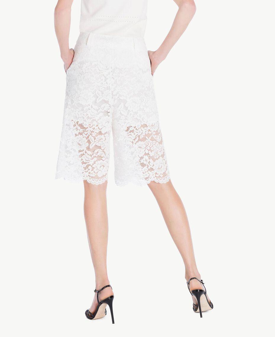 Shorts aus Spitze Weiß Frau TS828T-03