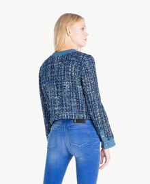 Bouclé jacket Multicolour Lapis Blue Woman JS82MD-03