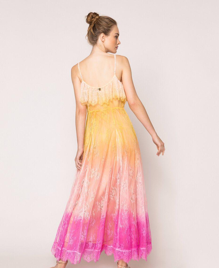 Tie-dye lace long dress Multicolour Tie Dye Pink Woman 201TT2282-02