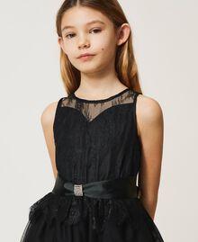 Robe en dentelle et tulle bicolore Bicolore Noir / Blanc Cassé Enfant 211GJ2Q8D-05