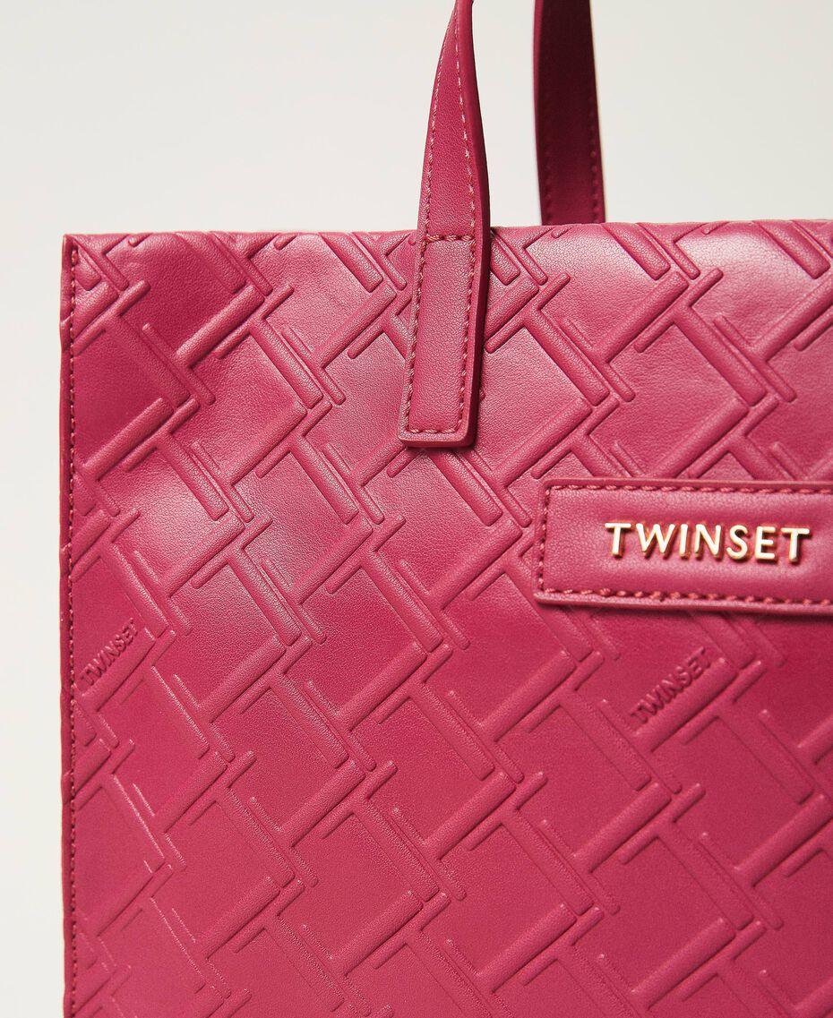 "Borsa shopper Twinset Bag media con logo Viola ""Red Plum"" Donna 202TB7161-03"