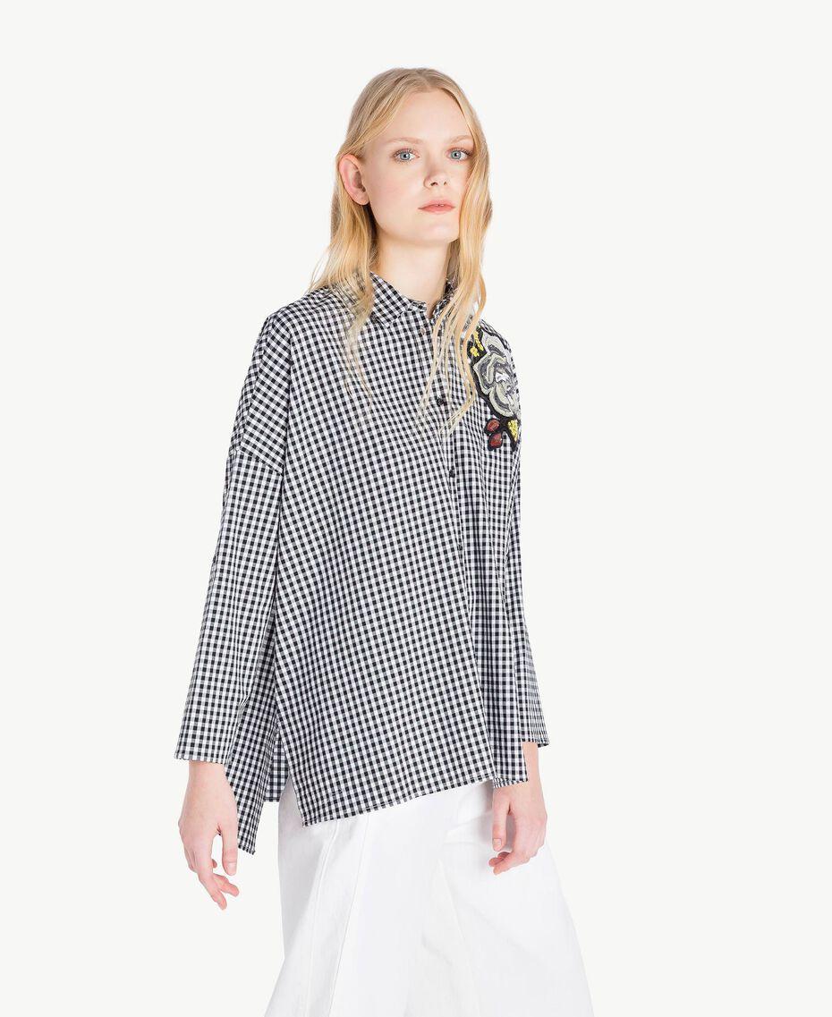 Camicia Vichy Bicolor Vichy Bianco Ottico / Nero Donna JS82EP-02