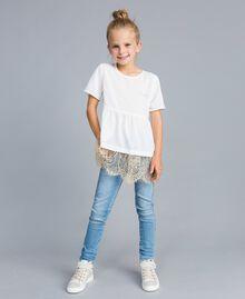 Jeans skinny con pietre e strass Denim Chiaro Bambina GA82VN-0T