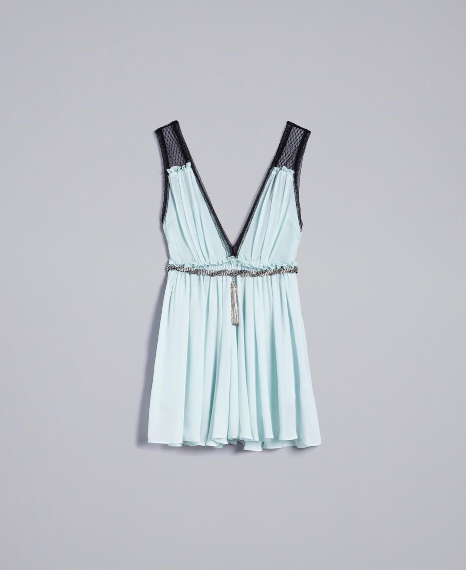"Robe avec imprimé floral ""Aigue"" Bleu clair Femme QA8TNB-0S"