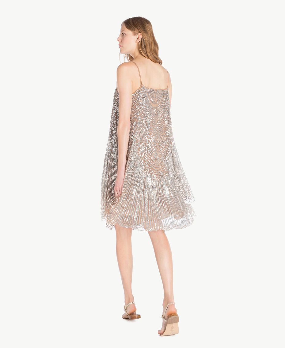 All over sequin dress Dark Silver Woman TS82EA-03