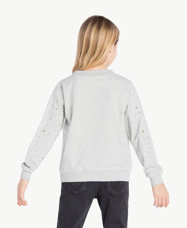 Studded sweatshirt Light Gray Mélange Child GS82G2-04
