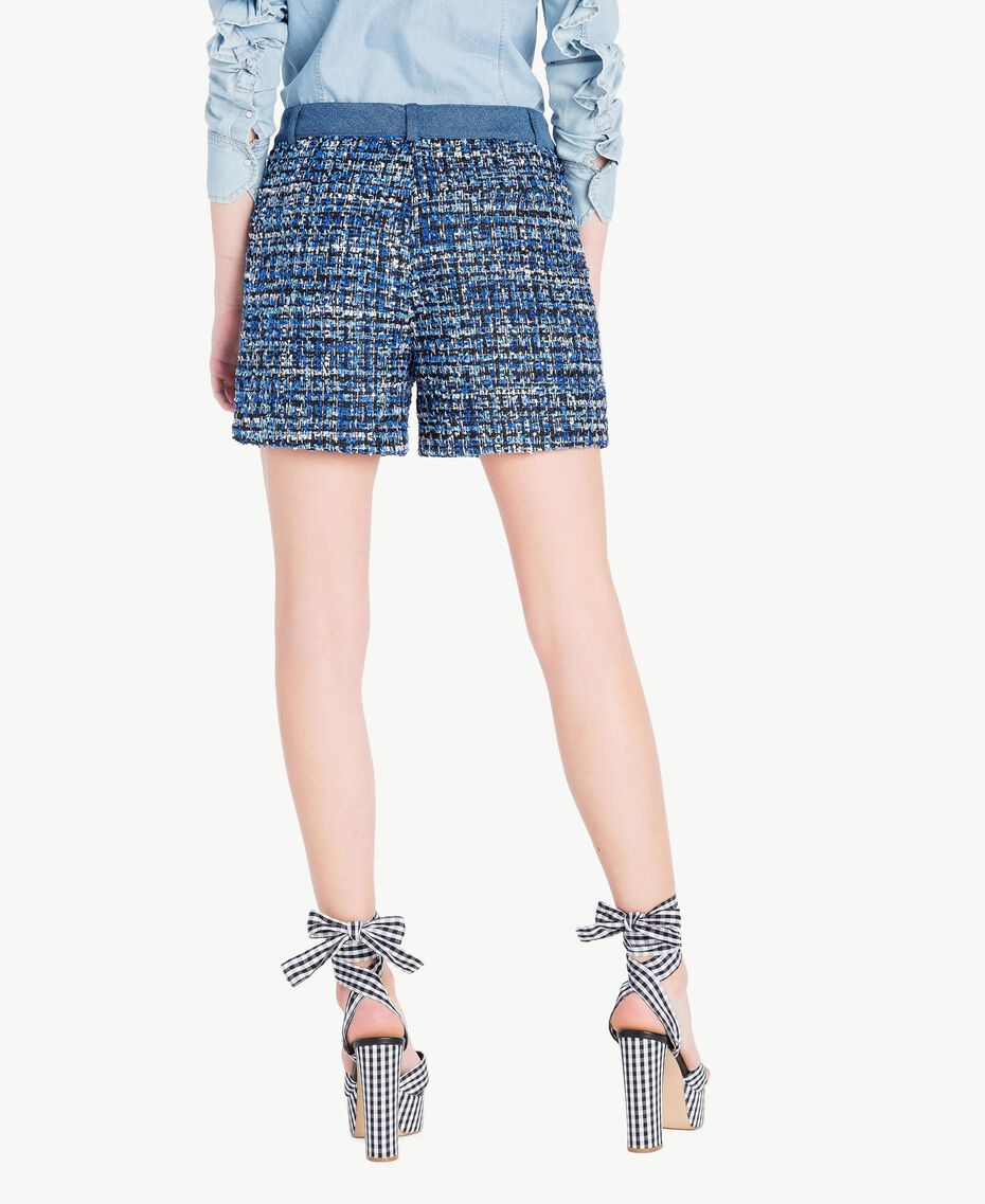 Shorts aus Bouclé Mehrfarbig Lapislazuliblau Frau JS82MF-03