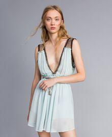 "Robe avec imprimé floral ""Aigue"" Bleu clair Femme QA8TNB-01"