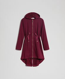 Parka in felpa con coulisse Purple Red Donna 192LI2TAA-0S