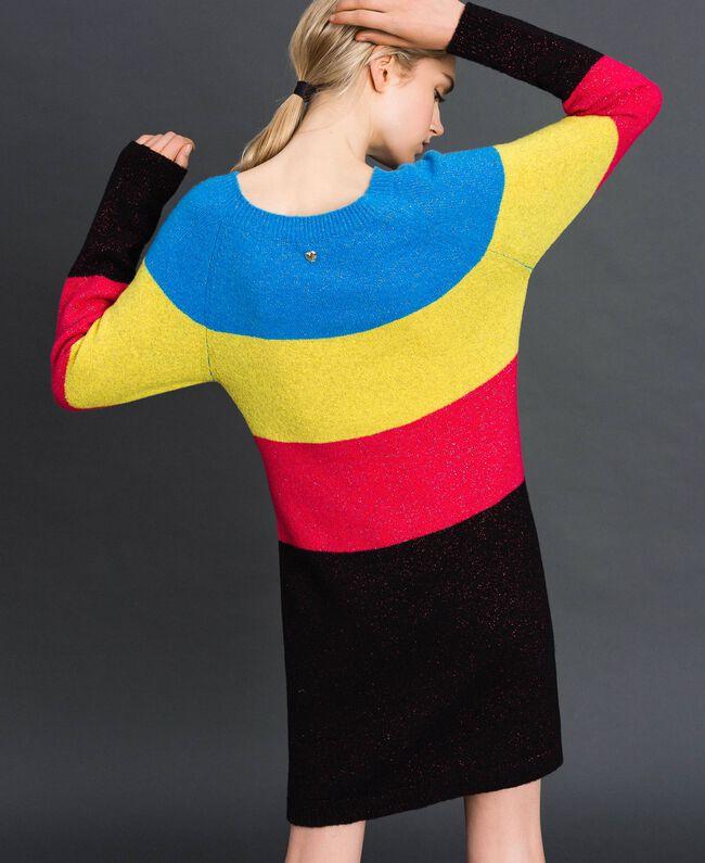 Robe color block en mélange de laine et lurex Tweed Lurex Femme 192MT3173-04