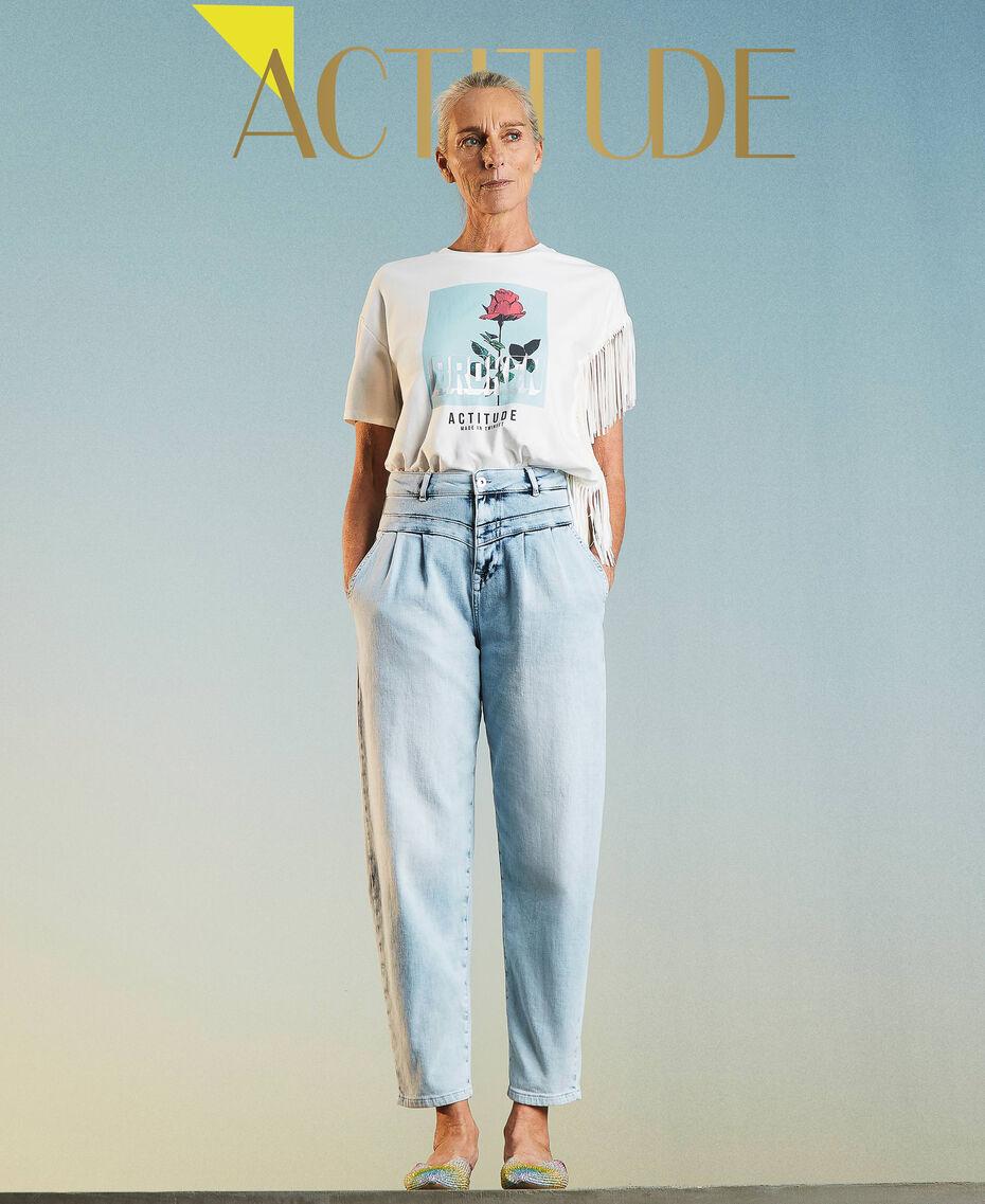 High waist jeans Light Denim Woman 211MT2580-01