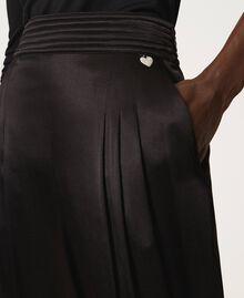 Pantalon en satin Noir Femme 202TP2144-05