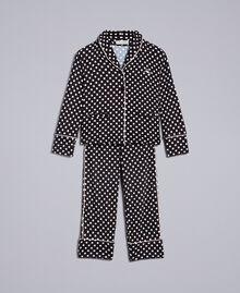 Polka dot viscose pyjamas Black / Off White Polka Dot Print Child GA828A-01