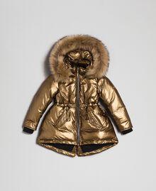 Doudoune avec capuche et fausse fourrure Jaune Or Enfant 192GB2070-01