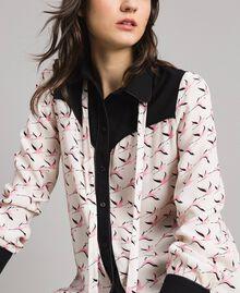 Hemd mit Flamingo-Aufdruck Motiv Flamingo Frau 191TP2762-04
