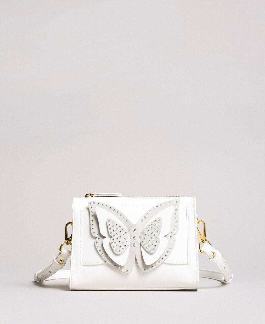 Faux leather shoulder bag with butterfly Off White Child 191GJ799F-02