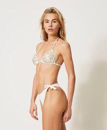Bikinitanga mit Schleifen Elfenbein Frau 211LMM888-02