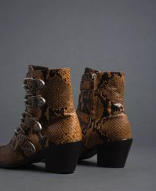Leather Texas boots with animal print Brandy Python Print Woman 192TCT06E-04