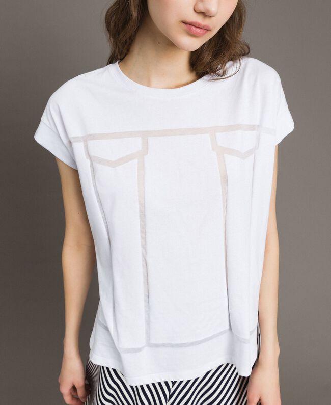 Trompe-l'oeil T-shirt White Woman 191MT2418-04