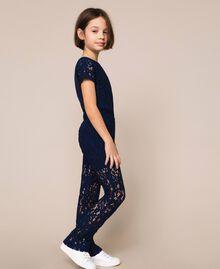 Macramé lace trousers Night Blue Child 201GJ2QL0-02